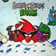 Angry Bird Space Poster by Julie Farnsworth