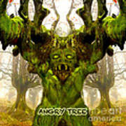 Angry Tree Forest Defender Poster