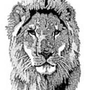 Animal Prints - Proud Lion - By Sharon Cummings Poster