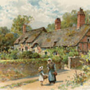 Anne Hathaway's Cottage At Shottery Poster