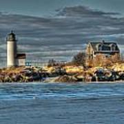 Annisquam Lighthouse From The Beach Poster