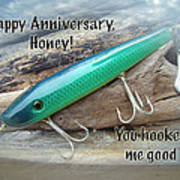 Anniversary Greeting Card - Saltwater Lure Poster
