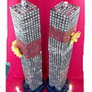 Twin Towers Memorial Sculptures Poster