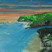 Ann's Beach On Lake Erie Poster