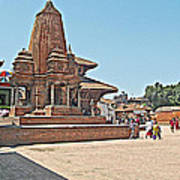 Another Hindu Temple N Bhaktapur Durbar Square In Bhaktapur -nepal Poster