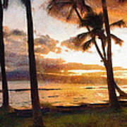 Another Maui Sunset - Pastel Poster