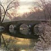 Anteitam Burnside Bridge In Spring Snow Poster