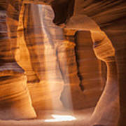 Antelope Canyon Gorgeous Lightbeam Poster
