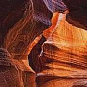 Antelope Canyon Textures Poster