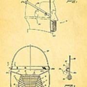Anti Eating Mask Patent Art 1982 Poster by Ian Monk