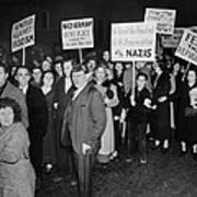 Anti-nazi Germany Parade In Los Poster
