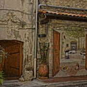 Antibes France Scene Paintings Dsc02278  Poster