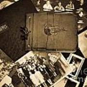Antique Autograph And Photo Albums And Photos Poster by Amy Cicconi