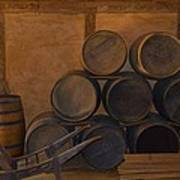 Antique Barrels And Carte Poster by Richard Jenkins
