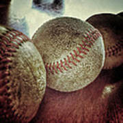 Antique Baseballs Still Life Poster