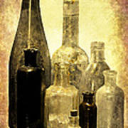 Antique Bottles From The Past Poster