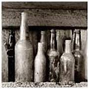Antique Bottles Poster