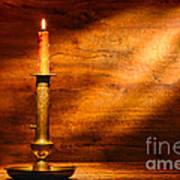 Antique Candlestick Poster