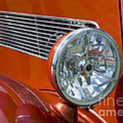 Antique Car Headlight Poster