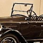 Antique Car In Sepia 1 Poster
