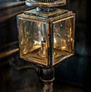 Antique Carriage Lamp Poster