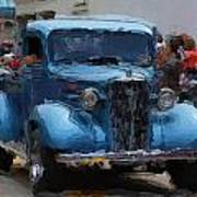 Antique Chevy Truck In Parade Poster