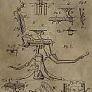 Antique Dental Chair Patent Poster