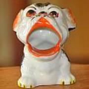 Antique Dog Ashtray Poster