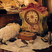 Antique Dresser  Poster by Maria Angelica Maira