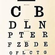 Antique Eye Chart Poster