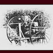 Antique Farm Machine Poster