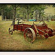Antique Farm Wagon Poster by Dianne  Lacourciere