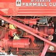 Antique Farmall Cub Engine Poster