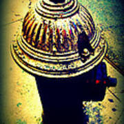 Antique Vintage Fire Hydrant - Multi-colored Poster