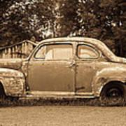 Antique Ford Car Sepia 1 Poster