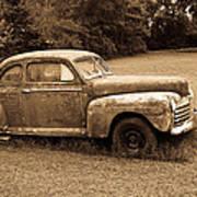 Antique Ford Car Sepia 4 Poster