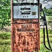 Antique Gas Pump 1 Poster