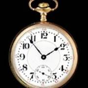 Antique Gold Pocketwatch Poster by Jim Hughes