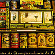 Antique Grocery Shelf Poster
