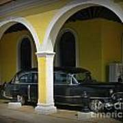 Antique Hearse In Havana Cemetary Poster