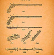 Antique Hockey Stick Patent 1935 Poster