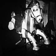 Antique Horse Bw Poster