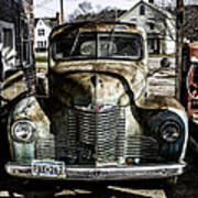 Antique International Pickup Truck Poster by Dick Wood
