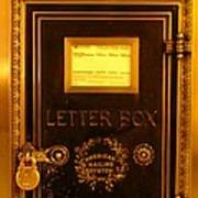 Antique Letter Box At The Brown Palace Hotel Poster
