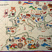 Antique Map Of Europa 1563 Poster