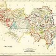 Antique Map Of Galway Ireland Poster