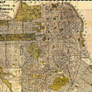 Antique Map Of San Francisco 1932 Poster