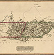 Antique Map Of Tennessee By Fielding Lucas - Circa 1817 Poster