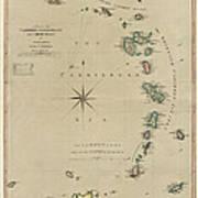 Antique Map Of The Caribbean - Lesser Antilles - By Mathew Richmond - 1789 Poster