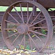 Antique Metal Wheel Poster